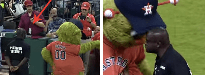 Mascot Guard Prank Fail Sens The Crowd Wild