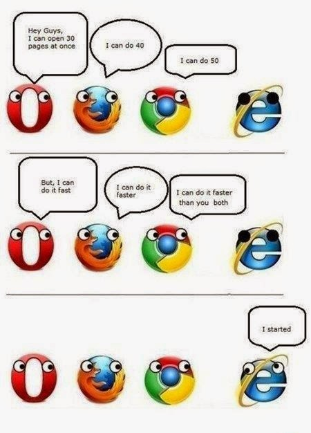 Web browser competition - funny web browser meme
