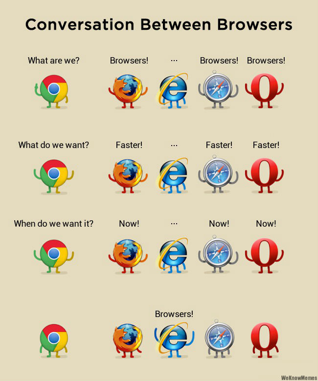 Conversations between browsers - funny best browser memes