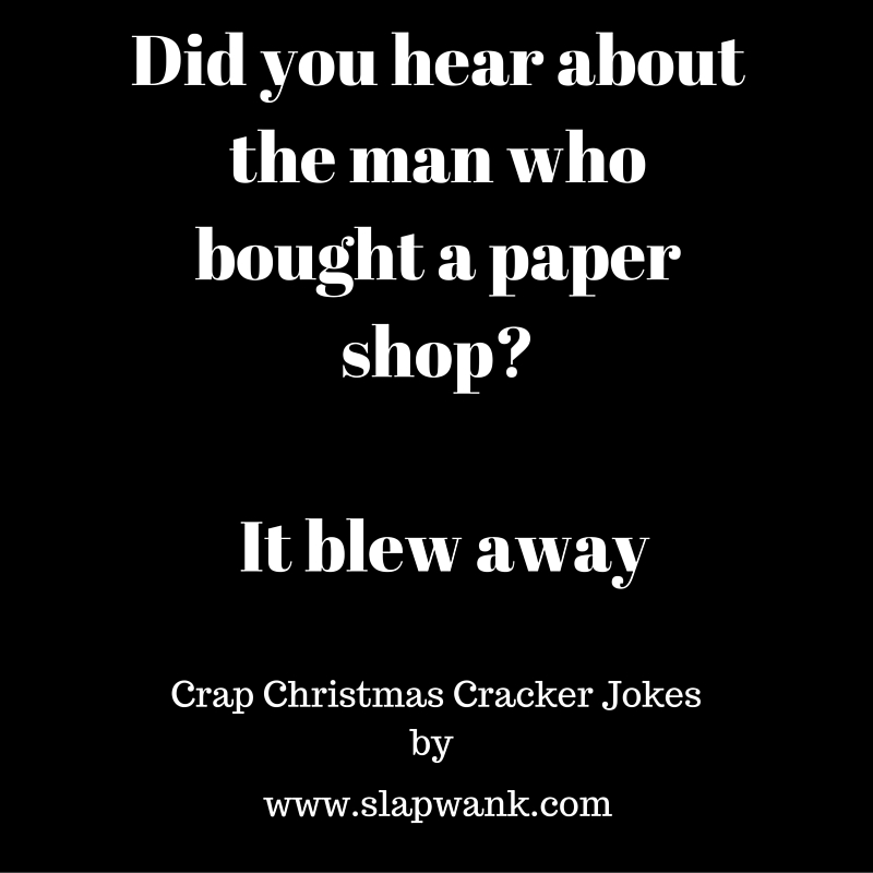 crap christmas cracker joke collection