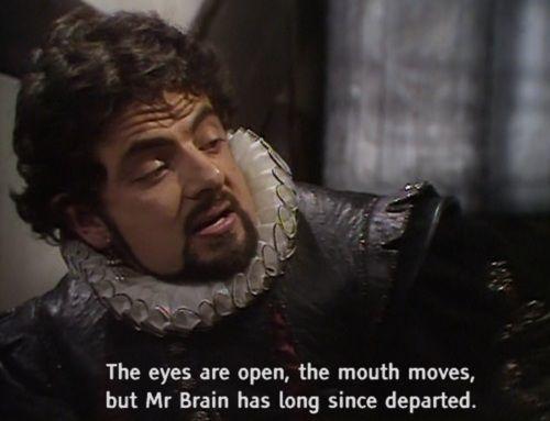 Eyes are open Blackadder quotes