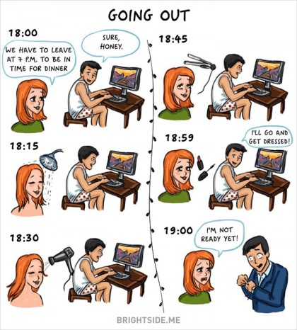 The Difference Between Men and Women going out