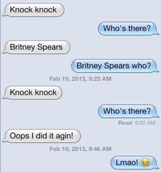 Britney knock knock jokes