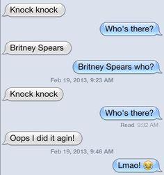 Britney knock knock jokes