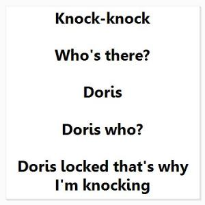 Doris locked knock knock joke