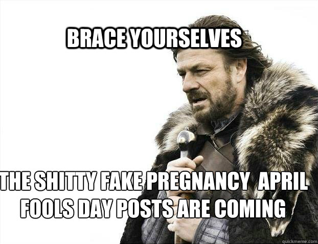 April fool's day pregnancy memes