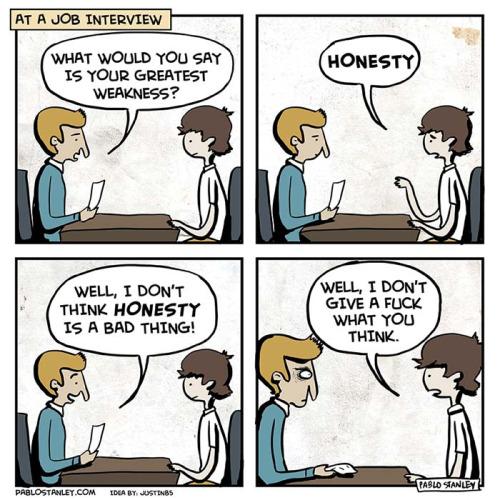 A massive job interview fail! But so tempting!