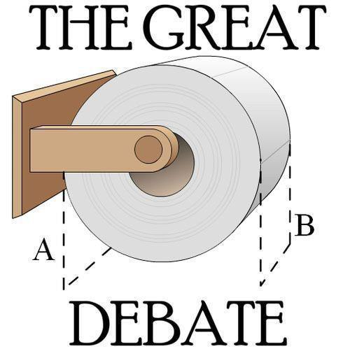 The Great Bog Roll Debate
