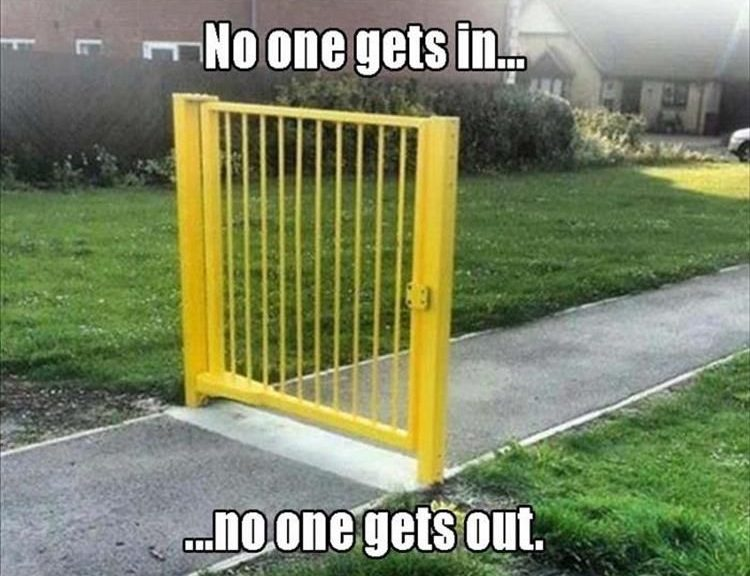The most pointless gate in the world