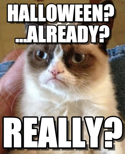 Funny Cat Halloween memes from a miserable cat