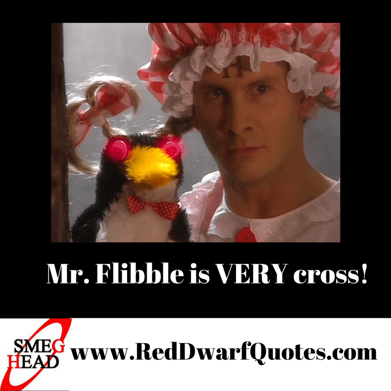 Mr Flibble appears in a great Red Dwarf episode where Rimmer is madder than usual!