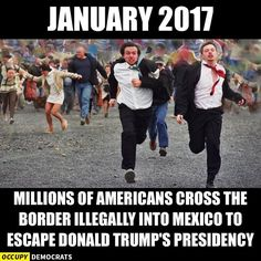 Americans escape President Trump in 2017