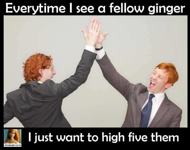 High five a ginger
