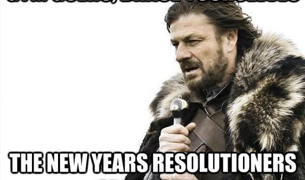 Brace yourself - the New year resolutions 2017 are coming