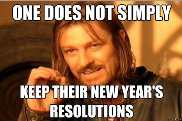 You do not keep your new year resolutions 2017