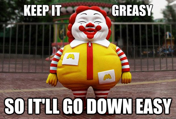 Fun McDonald's clown meme