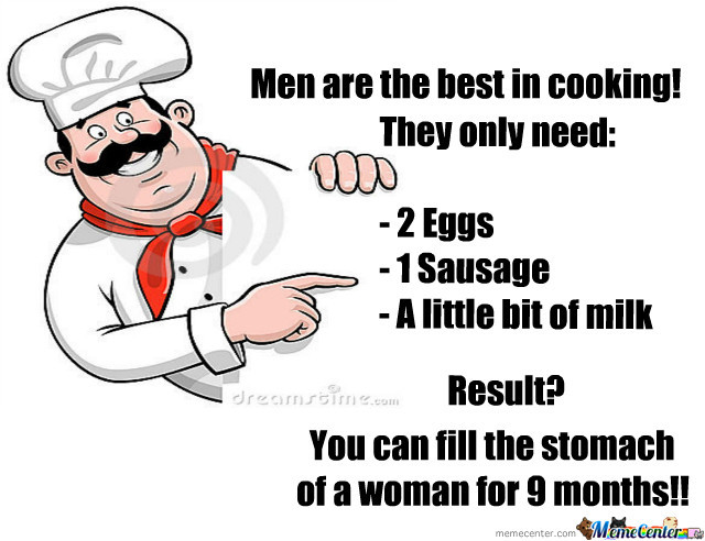 Funny Cooking Memes about men