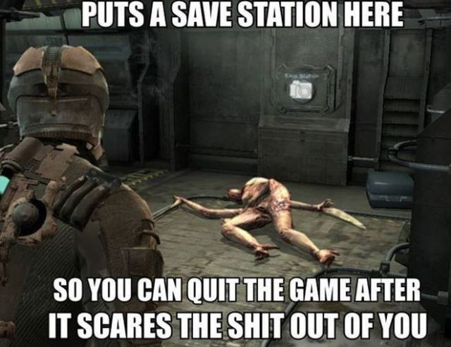 Funny Gaming Memes about save station