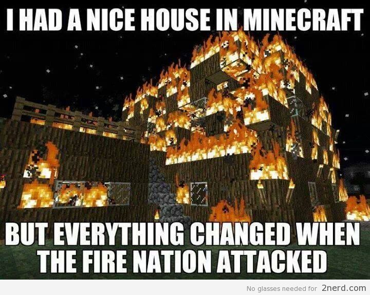 Funny Minecraft Memes fire nation