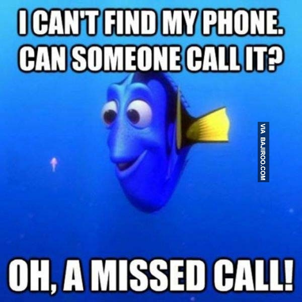 Phone Meme about a missed call