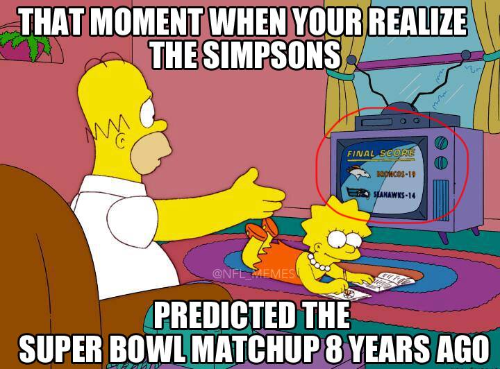 Funny Simpson Memes about predictions
