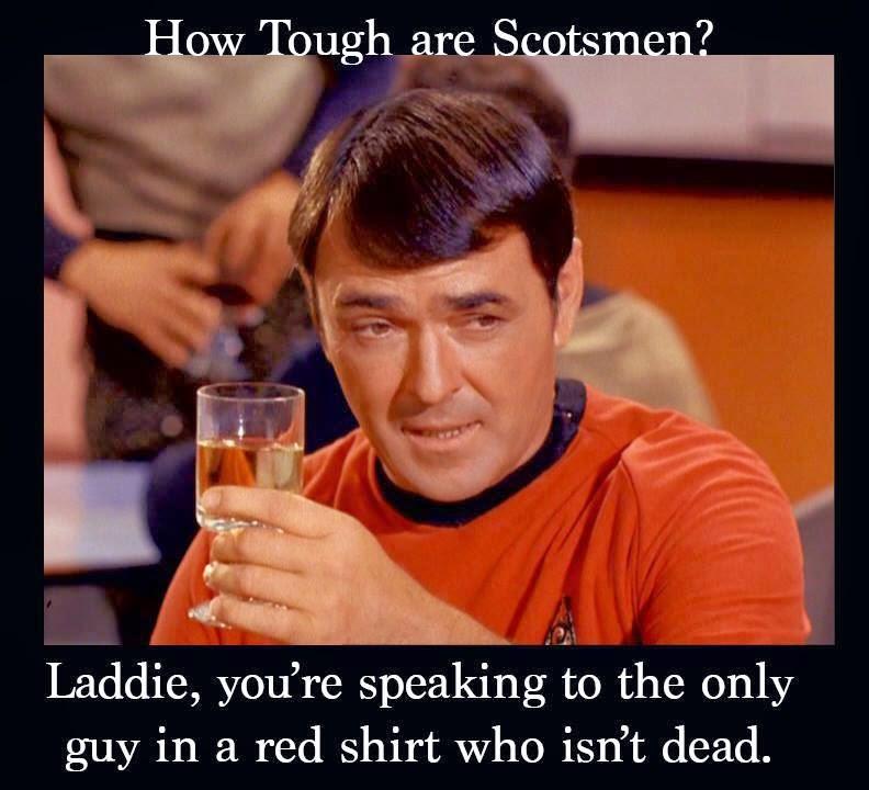 Funny star trek memes about Scotsmen