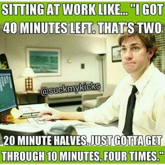 Funny work memes about sitting at work