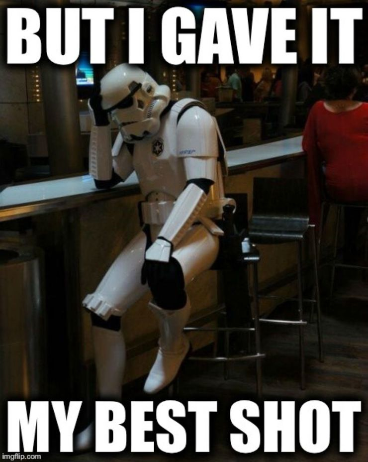 Stormtrooper meme about shooting