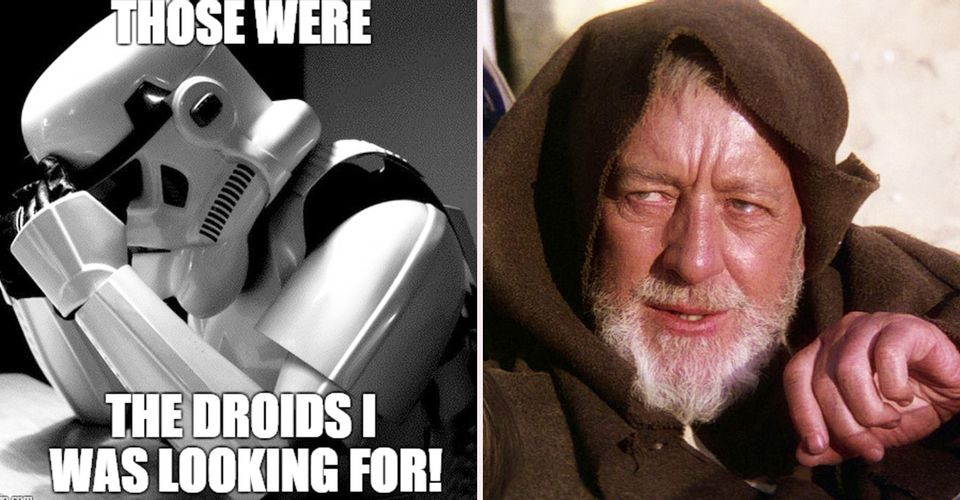 Funny meme about Stormtroopers