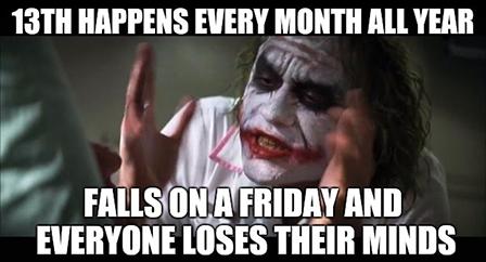 The Joker Friday the 13th meme