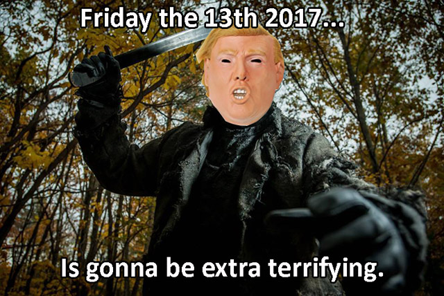 Donald Trump Friday 13th Meme