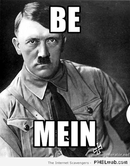 Romantic Adolf on Valentine's Day - funny valentine's day memes