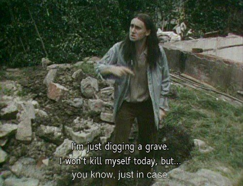 Neil digging a grace in the Young Ones