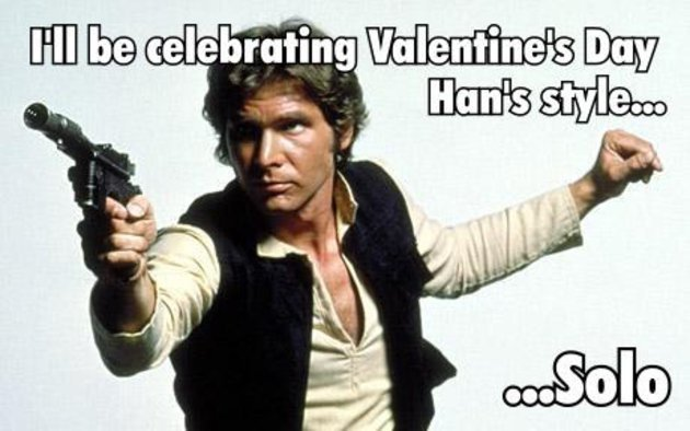 Han Solo celebrates Valentine's Day - Funny Valentine's Day memes collection