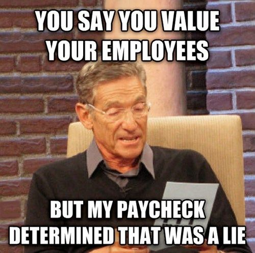 Funny Memes About Work with paycheck