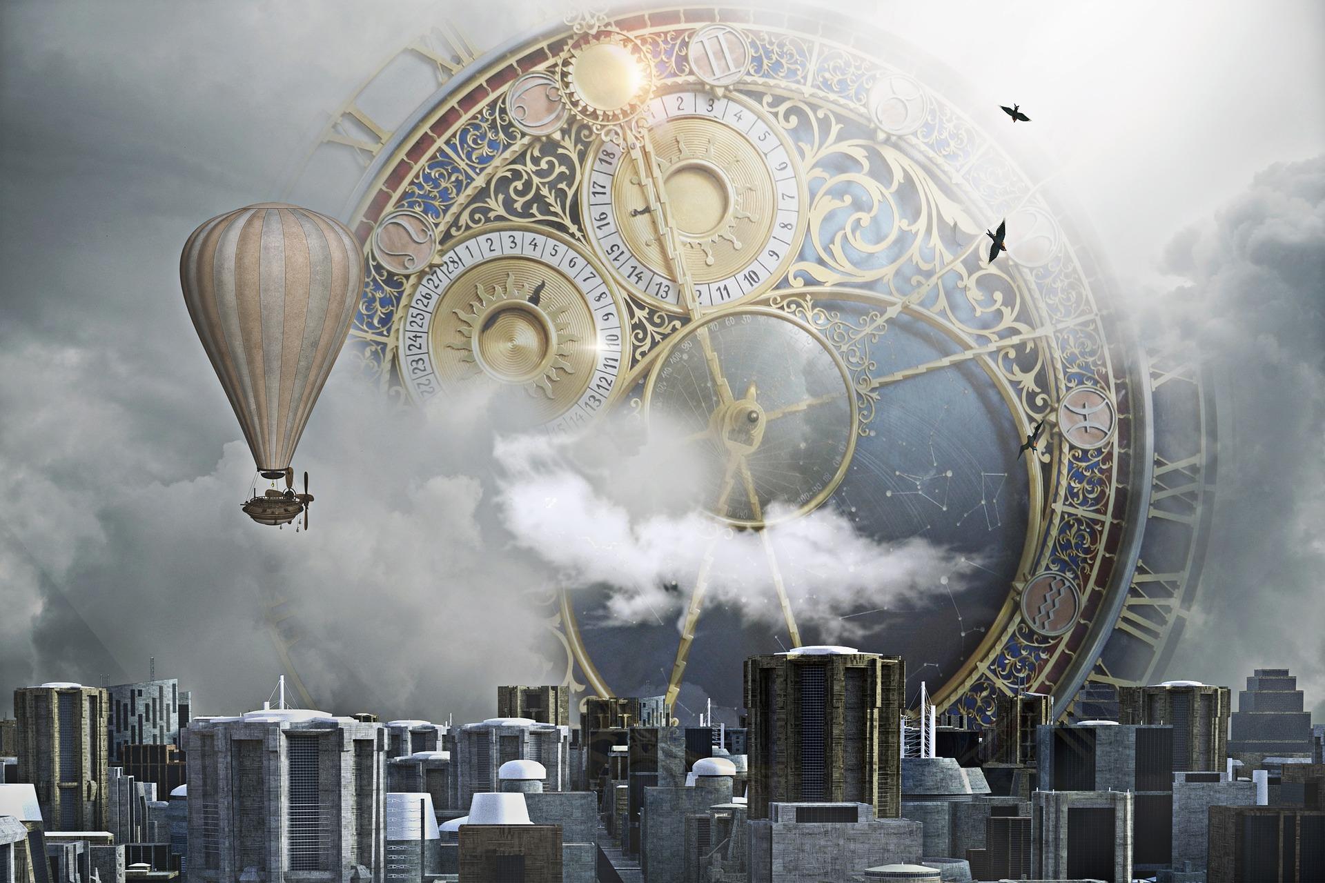 Sci-Fi fantasy clock
