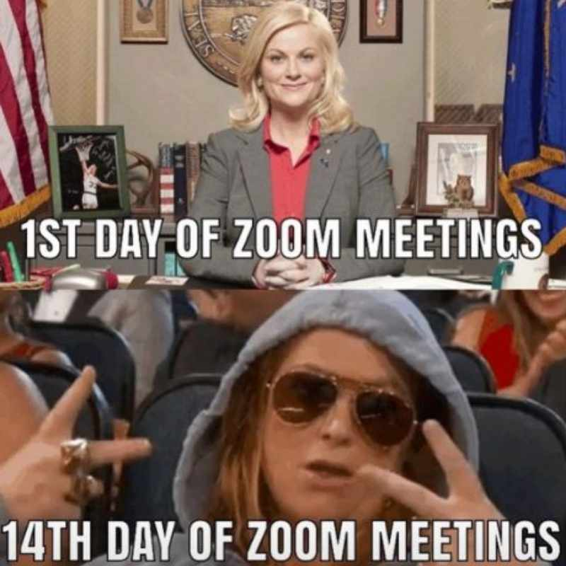 Zoom meetings are dress down every day
