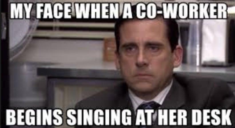 Do not sing at work