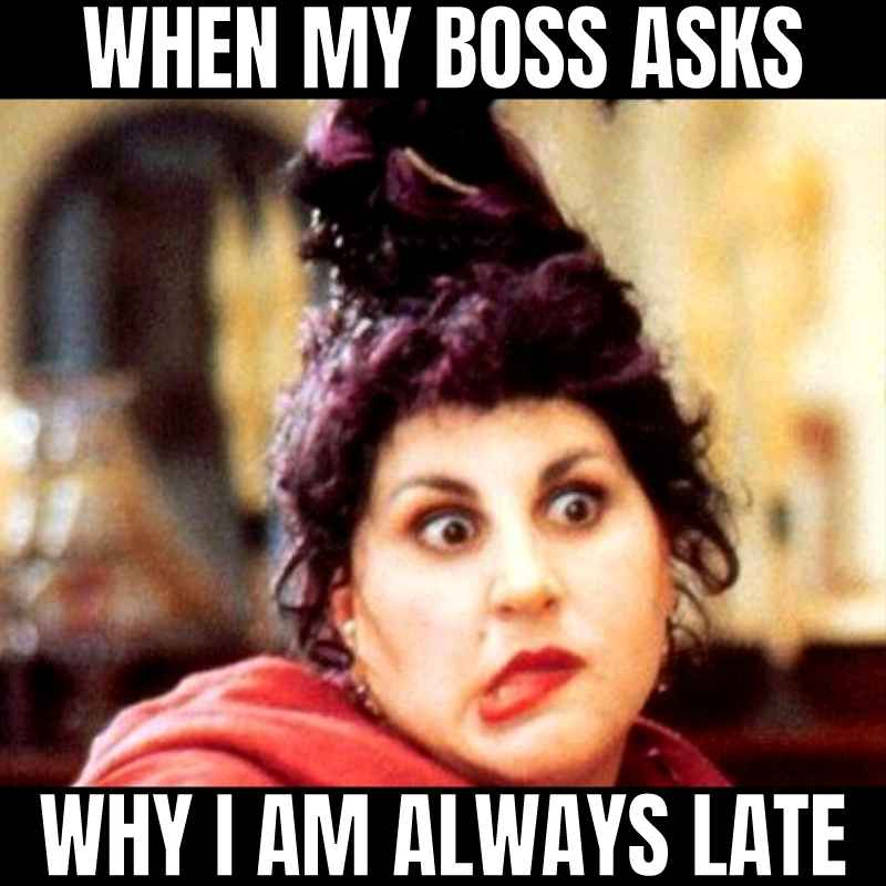 Why are you late?