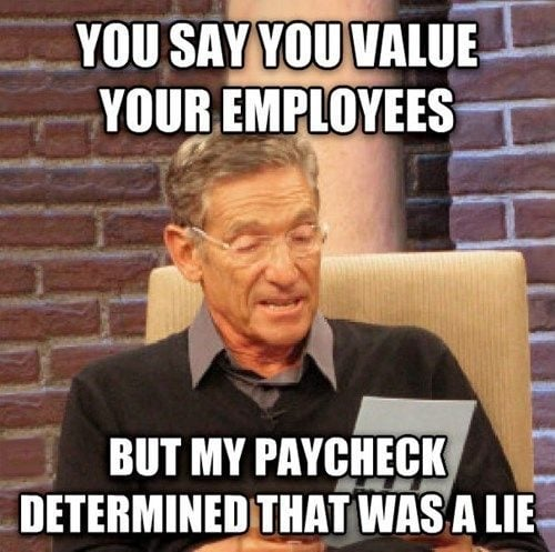 When you're a valued employee