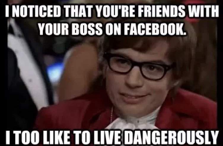 Are you friends with your boss in Facebook?