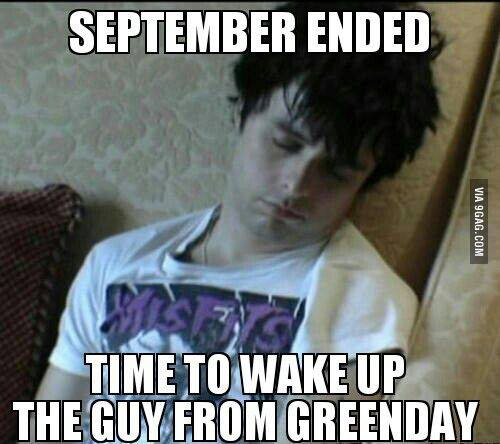 Green Day October 1st wake up