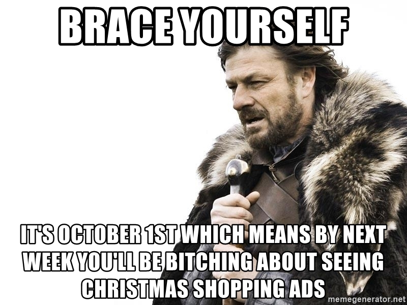 October means Halloween and Christmas promos