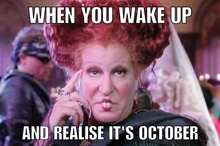 October is the month of Halloween